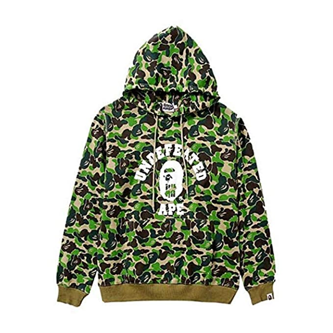 d08bce6b NIMOO Fashion Bape Printed Casual Loose Pullover Hoodie for Men ...