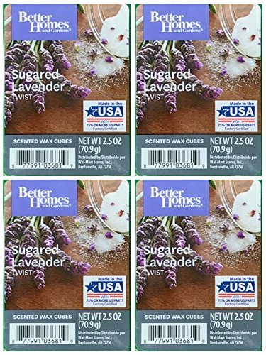 Better Homes and Gardens Sugared Lavender Twist Wax Cubes - (Lavender Twist)