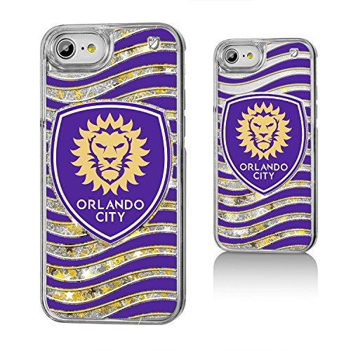 Keyscaper Orlando City Soccer Club Wave Gold Glitter iPhone 6/7/8 Case MLS by Keyscaper
