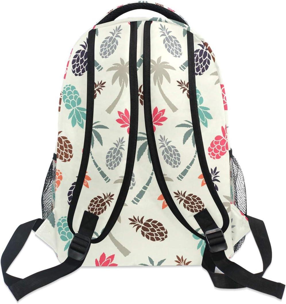Pineapple Couple Coconut Palm Trees Pineapples Backpacks Travel Laptop Daypack School Bags for Teens Men Women