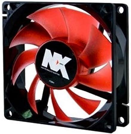NOX Ventilador Caja Serie NX 8 cm Rojo: Amazon.es: Informática