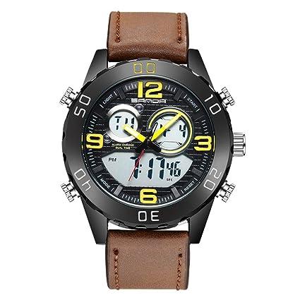 ZMM Mens Reloj Digital Deporte para Correr 50M Impermeable Relojes Moda Impermeable Llevó Relojes De Pulsera