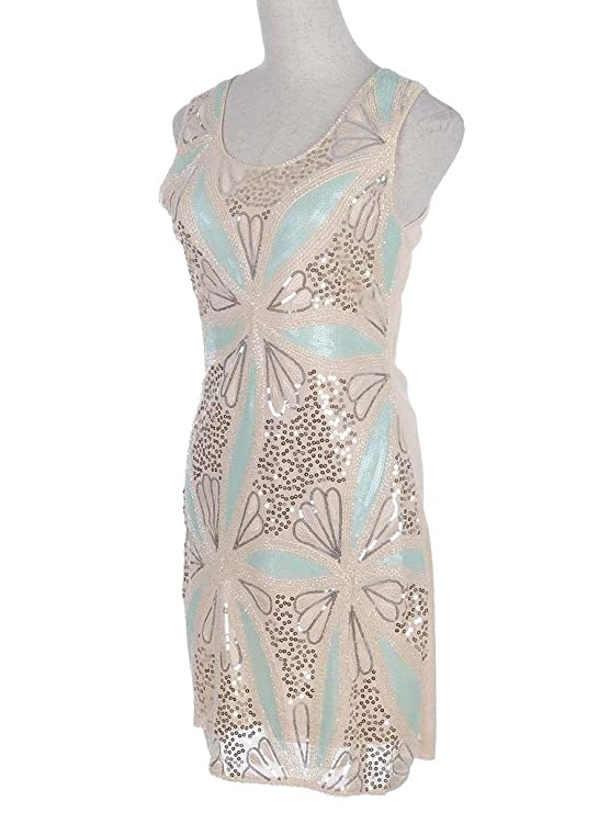 Amazon.com: Hblld Womens Floral Waistcoat Sequin Evening Party Prom Dress Ball Gown Beige: Clothing