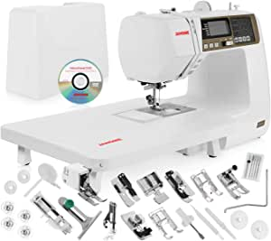 """Janome 4120QDC Computerized Sewing Machine w/Hard Case + Extension Table + Instructional DVD + 1/4"""" Seam Foot w/Guide + Overedge Foot + Zig Zag Foot + Buttonhole Foot + More!"""