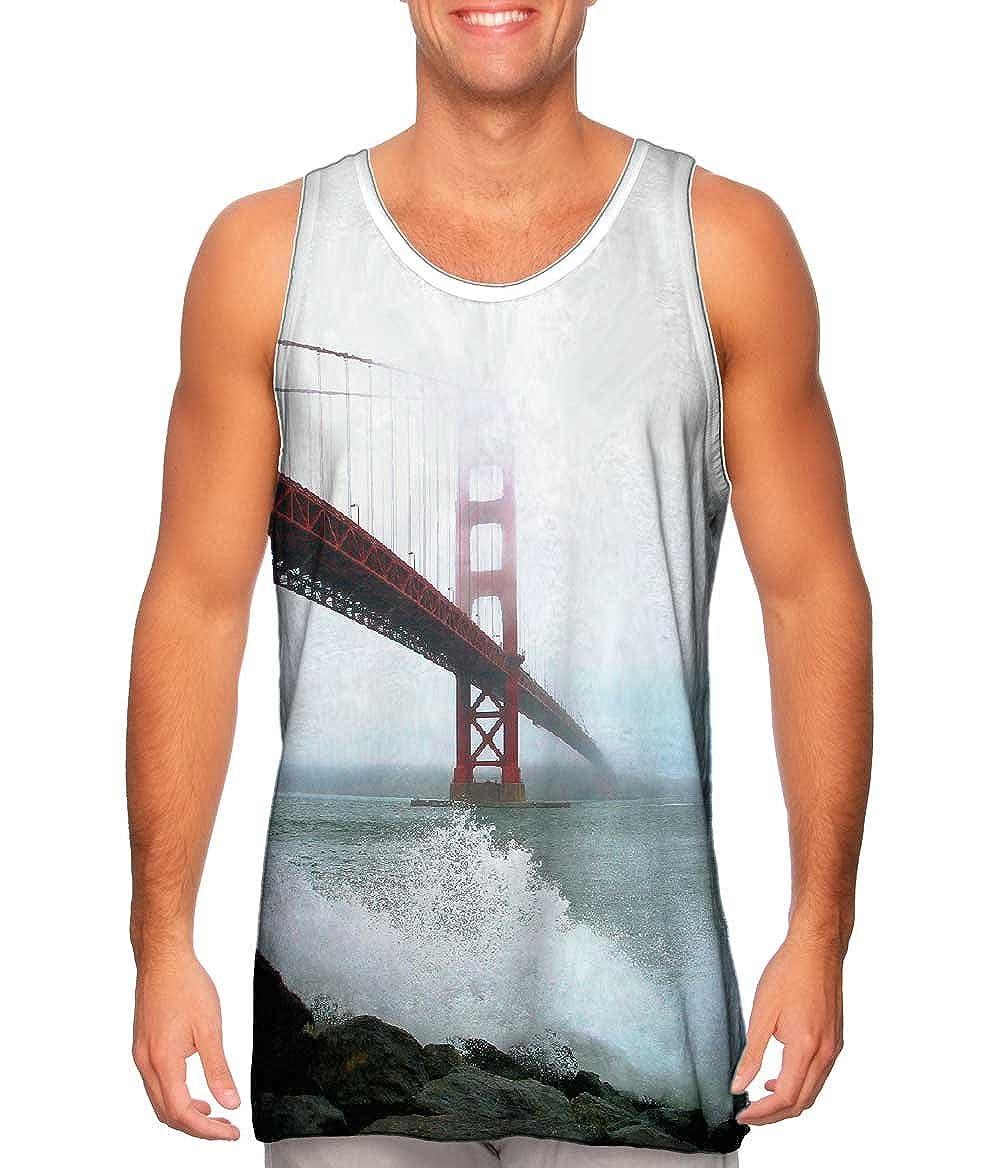 Tshirt Golden Gate Bridge Fog Yizzam Mens Tank Top