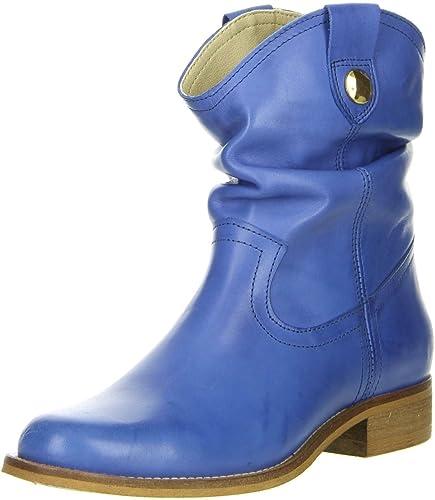 1d7fe4adb42d ONLINE SHOES Damen Stiefeletten Echtleder blau  Amazon.de  Schuhe ...