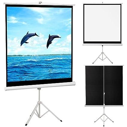 Outdoortips - 125 x 125 cm TV HD Pantalla de Cine Proyector ...