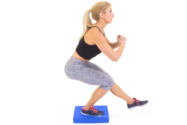 ProSource ps-1037-bp-r-blue - Almohadilla Antideslizante de Espuma Acolchada y Almohadilla Knee para Entrenamiento de Fitness y Estabilidad, Yoga, ...