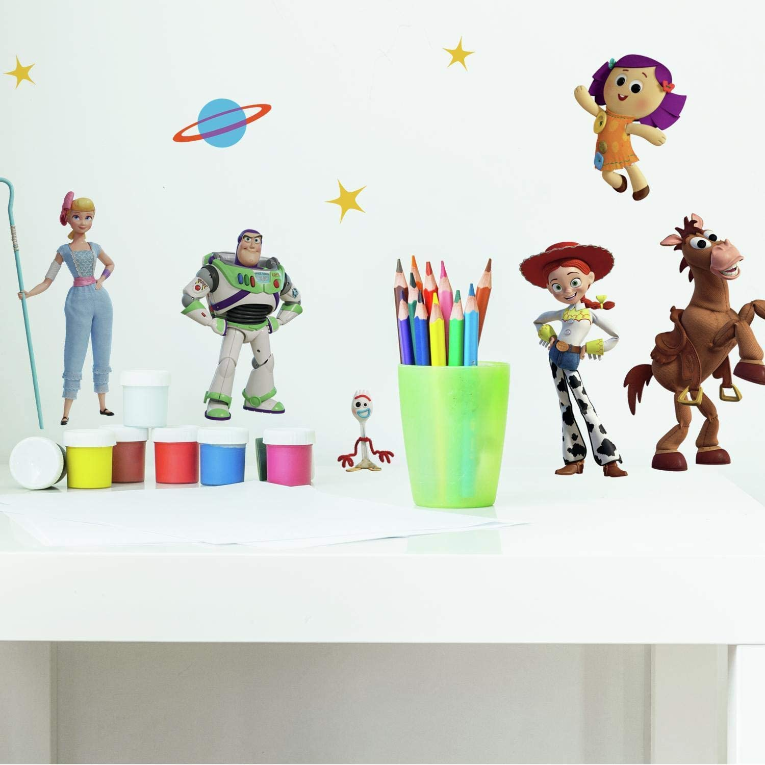 RoomMates Toy Story 4 Peel and Stick Wall Decals, green, blue, yellow - RMK4008SCS