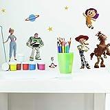 RoomMates RMK4008SCS 玩具总动员 4 即剥即贴墙贴,*,蓝色,黄色