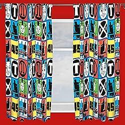 """Thomas & Friends Team Curtains 72"""" Drop"""
