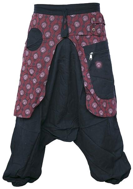 Little Kathmandu Pantalones para hombre bombachos de entrepierna suelta  estilo Aladino  Amazon.es  Ropa y accesorios c543a3ad12b5