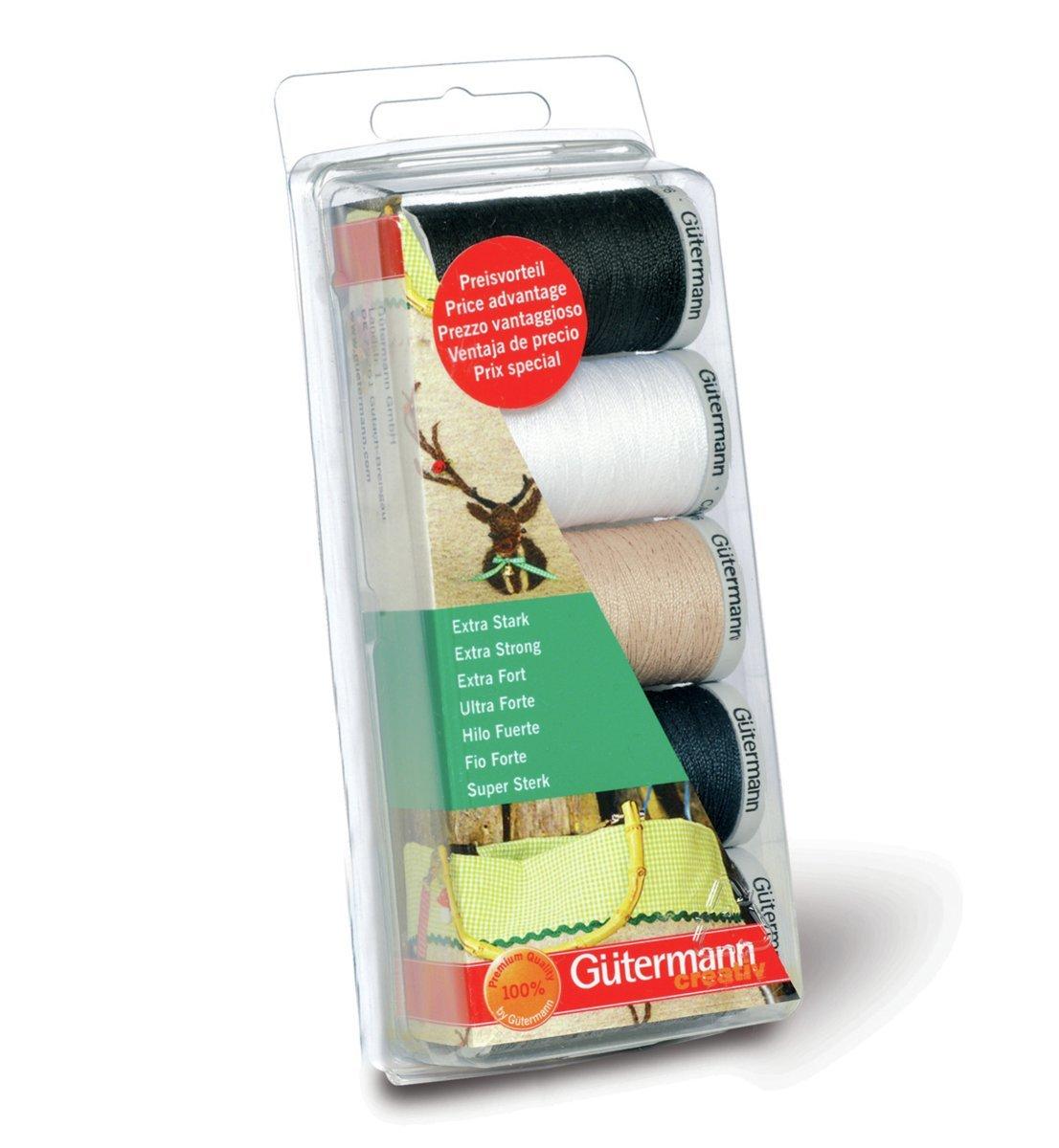 Gutermann 5 x 100 m X-Strong 100 Percent Polyester Thread Set 731307\1