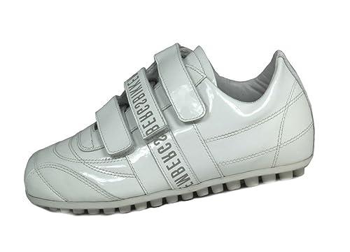 BIKKEMBERGS 102876 - Tobillo bajo de Cuero Mujer, Color Blanco, Talla 35 EU: Amazon.es: Zapatos y complementos