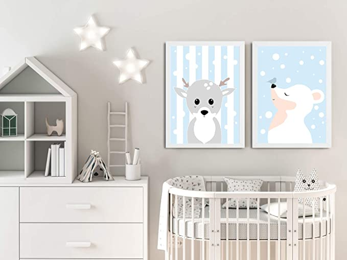 Charming Swan Lake with Two Adorable Ballerinas Posters for Nursery Children Bedroom Playroom Wall Art Decor for Girls Lilcastle Set of 3 Unframed Wall Art Prints for Kids| A4 or A3 Posters