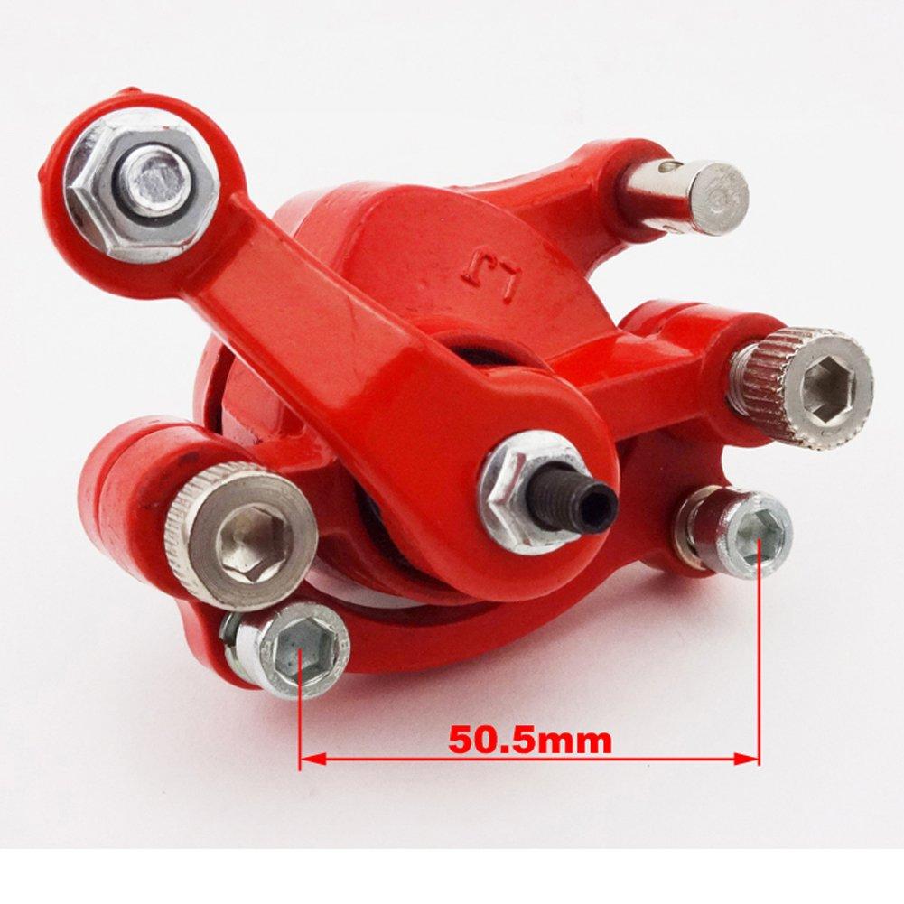 STONEDER rosso anteriore sinistra pinza freno a disco rotore di 120/mm per 2/tempi Minimoto Go Kart scooter