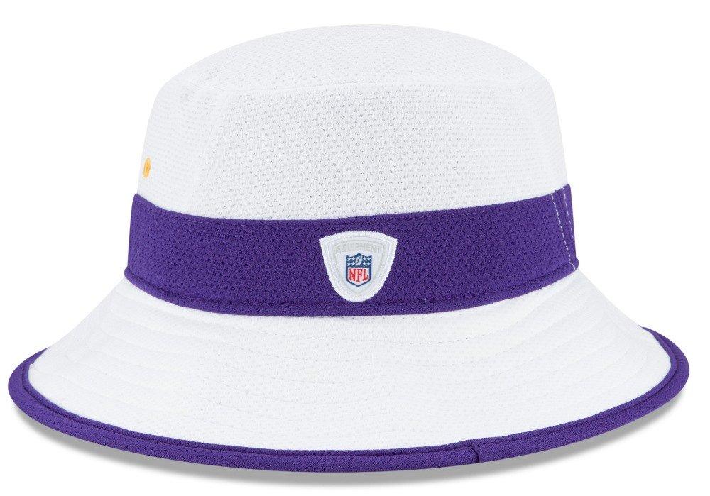 New Era Minnesota Vikings NFL 2015 Training Camp Sideline Bucket Hat -  White  Amazon.co.uk  Sports   Outdoors 03c78459def