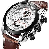 [Patrocinado] Megir Relojes para hombres Elegante Casual Ejército Militar Cronógrafo de negocios Deporte Trabajo Cuarzo Reloj de pulsera