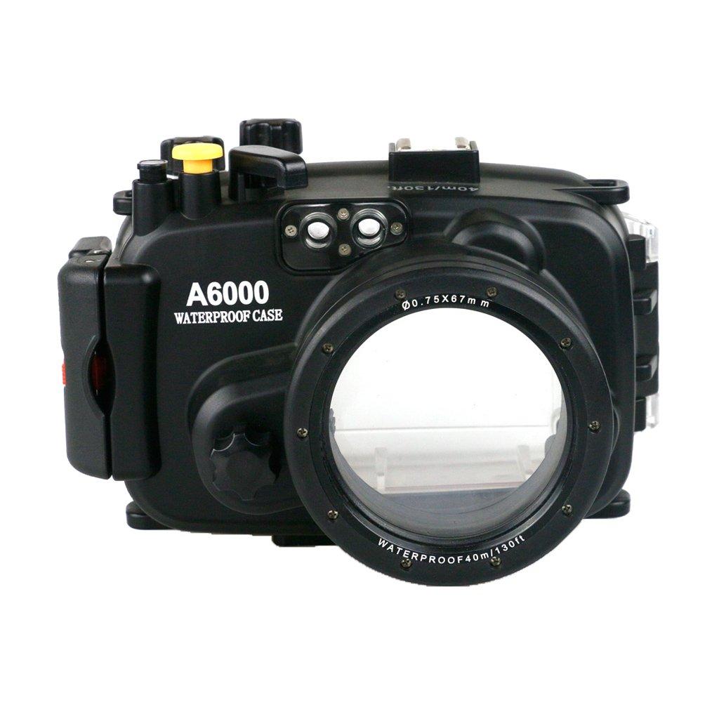 Perfk ソニーA6000に対応 16-50mmレンズ 40 m 防水 カメラ ハウジングケース 耐久性 互換性   B078WT8G2T