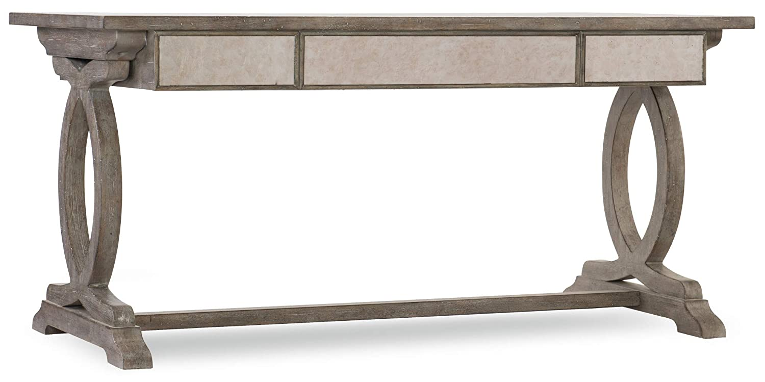 Amazon.com : Hooker Furniture Rustic Glam Trestle Computer Desk In Light  Wood : Office Products