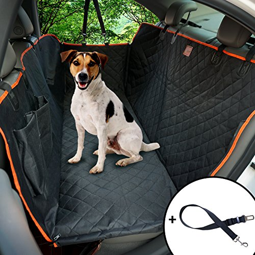 Lantoo Dog Seat Cover Large Back Seat Pet Seat Cover