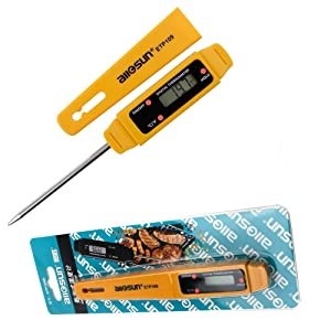 allsun Instant Read Digital Electronic Food Thermometer Digital Stainless Cooking Probe Meat Thermometer Temperature Meter for Food, Meat, Grill, BBQ