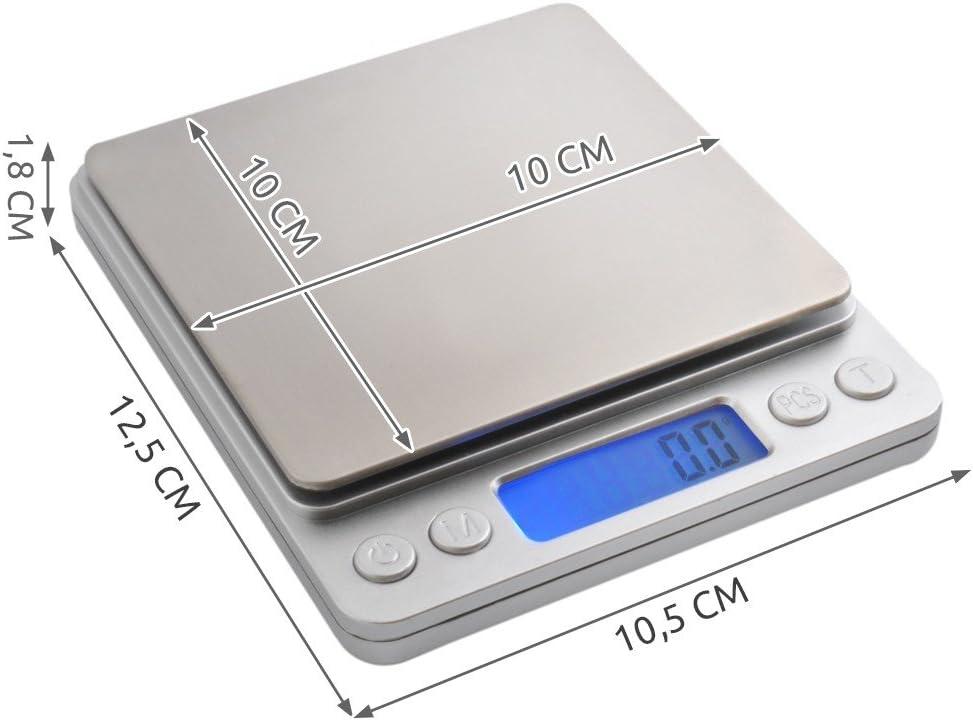 Balance de bijoutier 2/kg balance de pr/écision balance num/érique Dor/é # 3465