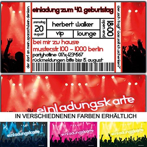 Einladungskarten Als Eintrittskarte Konzert Ticket Zum Geburtstag