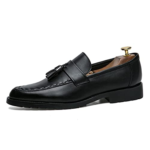 c11f0d2abe4f29 Esthesis Hombre Tassel Business Shoes Cuero Formal Vestido Pisos Oficina  Oxford Zapatos: Amazon.es