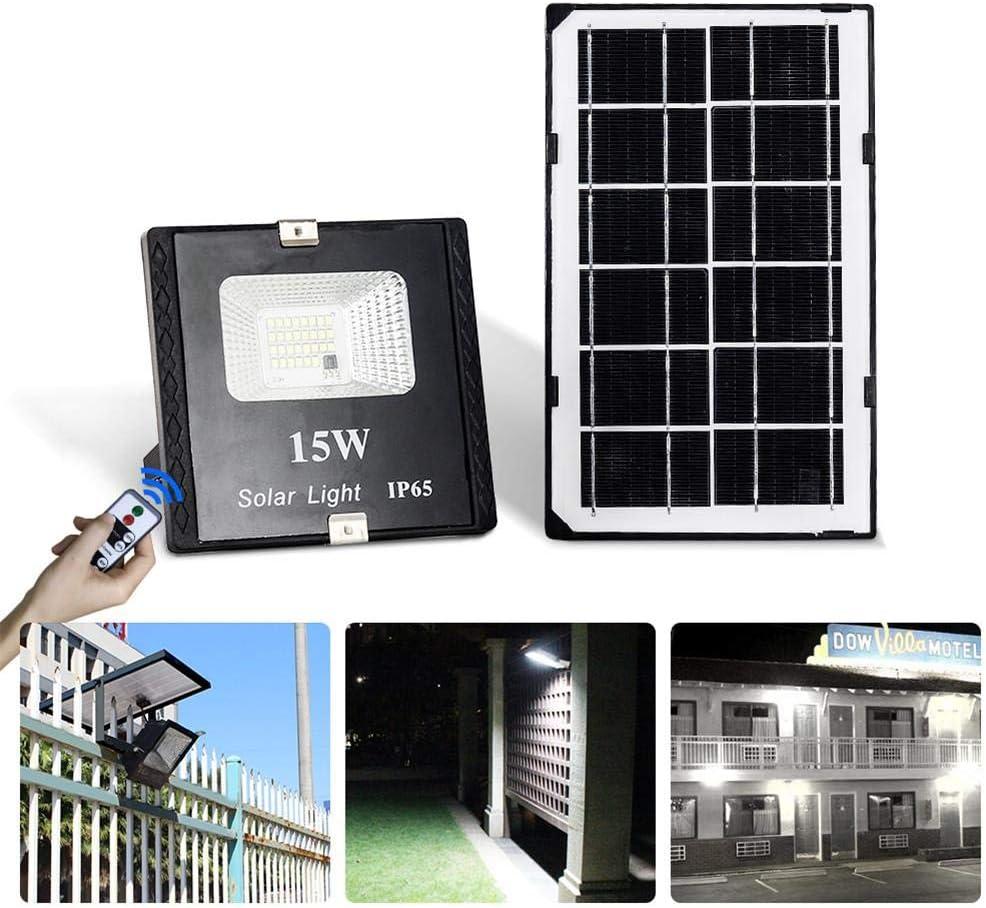 talogca – Foco Solar LED para Exterior, lámpara Solar LED, Foco Solar LED con Mando a Distancia, para jardín, terraza, pérgola, IP65 Resistente al Agua, Regulable: Amazon.es: Hogar