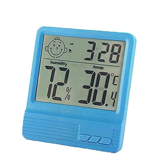 Amazon.com: YXBaby Temperatura digital Medidor de humedad Hogar Termómetro luminoso de alta precisión Higrómetro Termómetro de escritorio y colgante ...