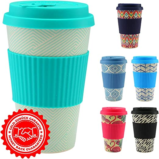 CasaBasics Taza de Café para Llevar en Bambú | Reutilizable ...