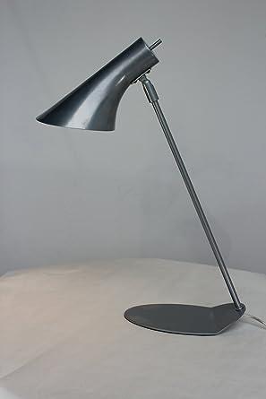MiniSun - Moderna lámpara de mesa de tipo flexo ajustable, estilizada, en metal plata gris