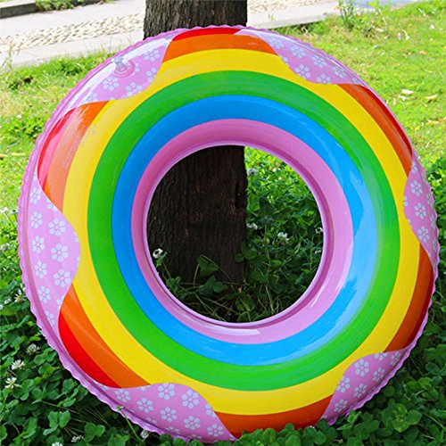 Amazon.com: pinnacleT1 31Inch Inflatable Pool Ring Tube Float - Fun Kids Swim Party Toy - Summer Lounge Raft: Toys & Games