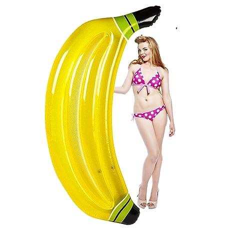Float Raft Fila De Aire Haragán Amortiguar Banana Inflable PVC flotadores Asiento de la Piscina para
