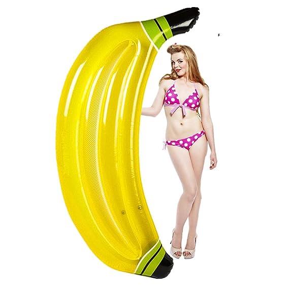 Flotador Inflable de Lujo Piscina Banana Inflable PVC flotadores ...