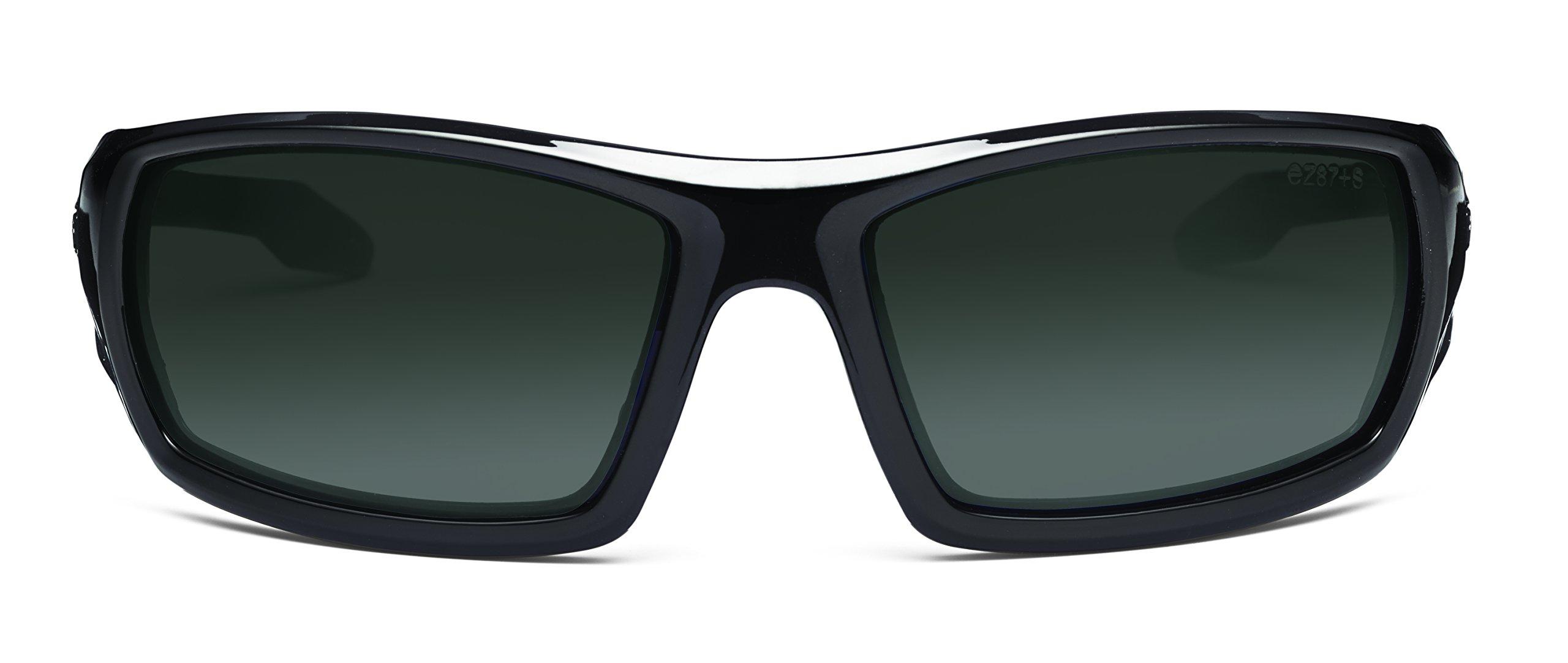 Ergodyne Skullerz Odin Polarized Safety Sunglasses - Black Frame, Smoke Lens by Ergodyne (Image #2)