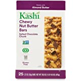 Kashi Salted Chocolate Chunk Chewy Granola Nut Butter Bars, 30.8 Ounces (Pack of 25)