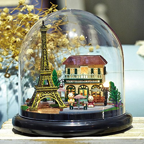 Cadeau élégant Bricolage Romantique Paris Tour Eiffel avec Transparent Cover Music Box pour Girlfriend sensful cadeau Ameublement et décoration