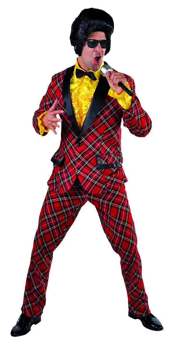 karrierter Combinaison Rouge Costume Smoking Tartan S à XXL