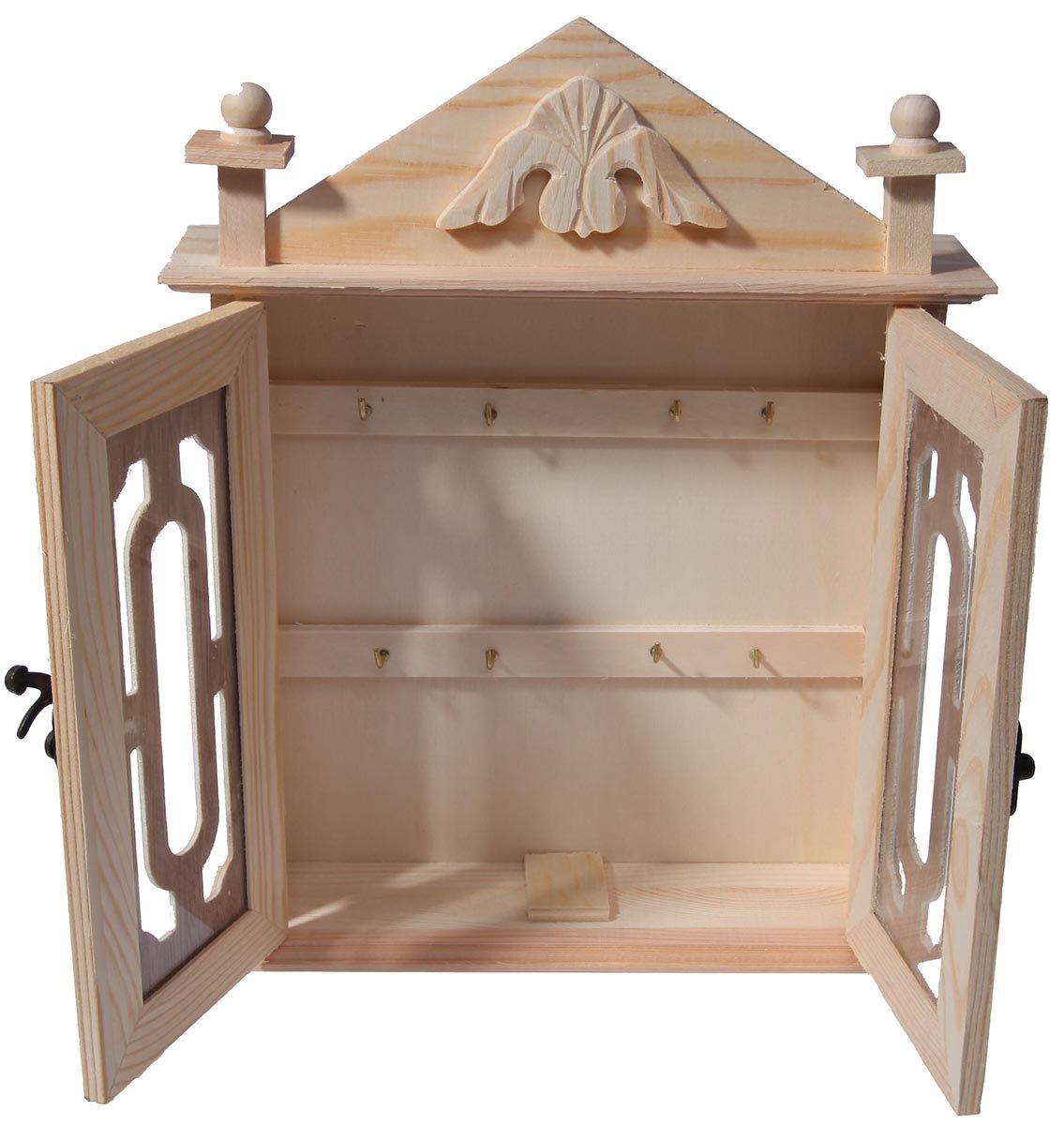 Perfect Amazon.com: Key Organizer / Key Cabinet   Natural Wood Key Storage Cabinet    11 Inches: Home U0026 Kitchen