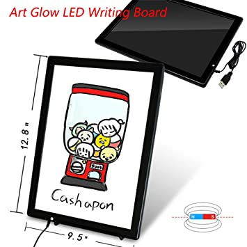 Amazon.com: New Art Glow - Tablero de notas con luz LED de ...