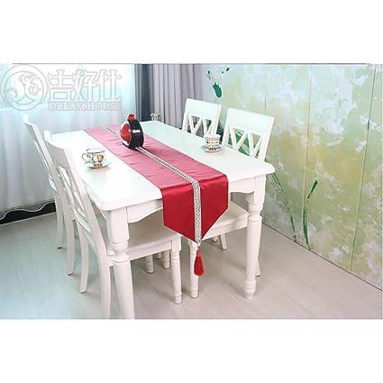 battar de Vintage naturales rectángulo Camino de mesa sencilla moderna floral mesa bandera para Boda rústico