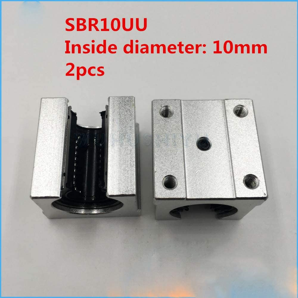 SBR10UU 10Mm Linear Ball Bearing Block for 10Mm Shafts CNC Router 2 Pcs//Lot