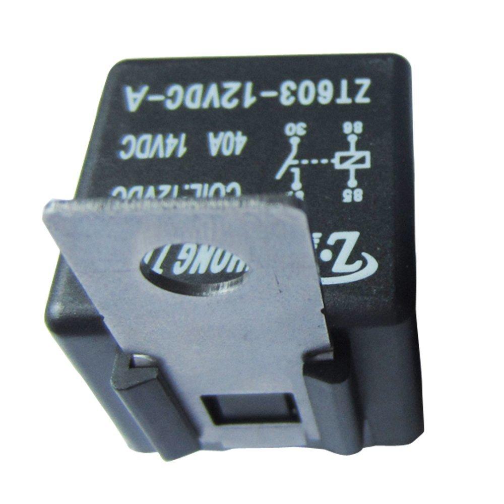 Mintice/™ 5 X 80A 12V 4Pin veicolo Car Kit rel/è auto per pompa elettrica del carburante fan pesante SPST