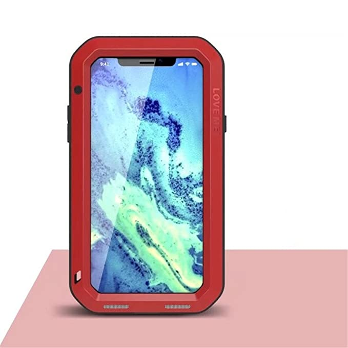 san francisco 486cc ed84f iPhone X Case, LOVE MEI Outdoor Aluminum Metal Cases for Apple iPhone X  Shockproof Dropproof Rainproof Silicone Back Cover with Gorilla Glass ...