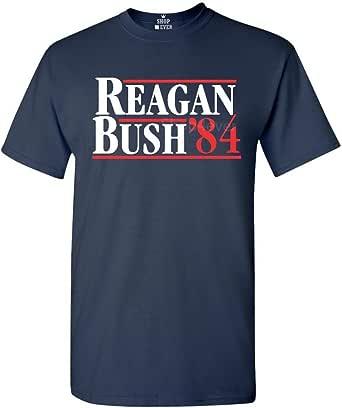 shop4ever Reagan Bush 84 T-Shirt Presidential Campaign Shirts
