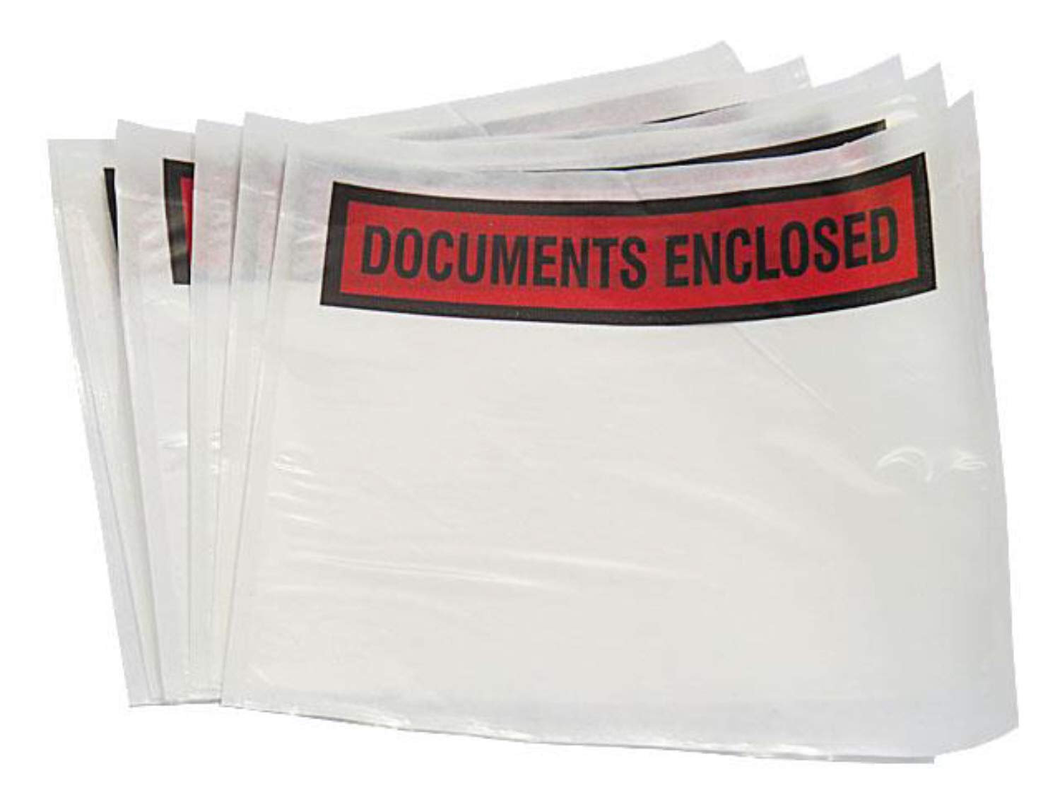 5000 A7 Documents Enclosed Plastic Postage Bags Labels