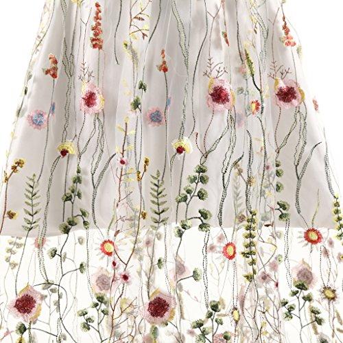 Blumen Stickerei Erosebridal Knöchellangen Abendkleid Ballkleider Tüll Lange taHZBq