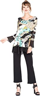 product image for Eva Varro Long Sleeve Lace Combo Tunic